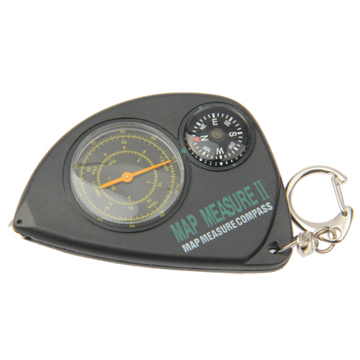 Buy 2-in-1 Portable Map Distance Measuring Measurer + Compass with Key Chain for Outdoor Camping Hiking, Black for $2.59 in SUNSKY store