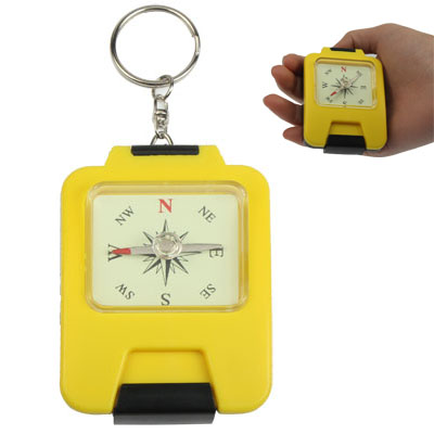 Buy Hand-held Plastic Precise Compass Navigation for Travel Camping, Yellow for $1.31 in SUNSKY store