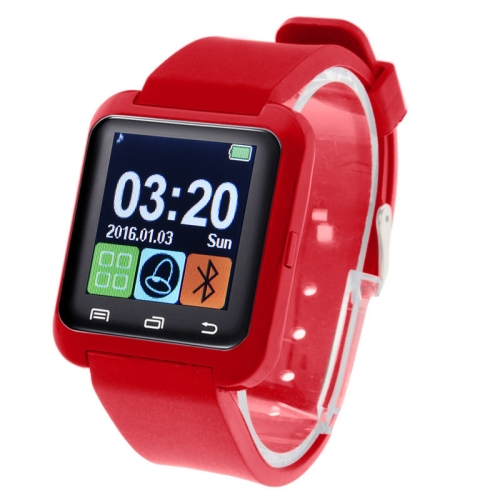 Buy U80 Bluetooth Health Smart Watch 1.5 inch LCD Screen for Android Mobile Phone, Support Phone Call / Music / Pedometer / Sleep Monitor / Anti-lost, Red for $7.10 in SUNSKY store