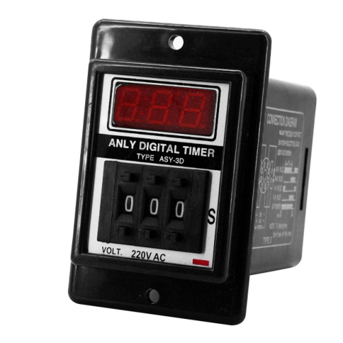 ASY-3D AC 220V 0-999s Digital Timer Programmable Time Relay