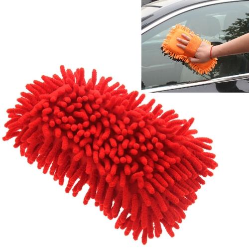 Ultrafine Fiber Chenille Anthozoan Car Washing Gloves Multi-functional Magic Car Brush (Random Color Delivery)