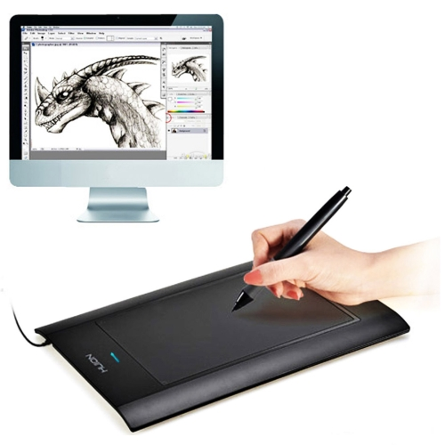 Huion H580 USB Graphic Drawing Tablet 8 Hot Keys Battery Pen for Art design 8x 5