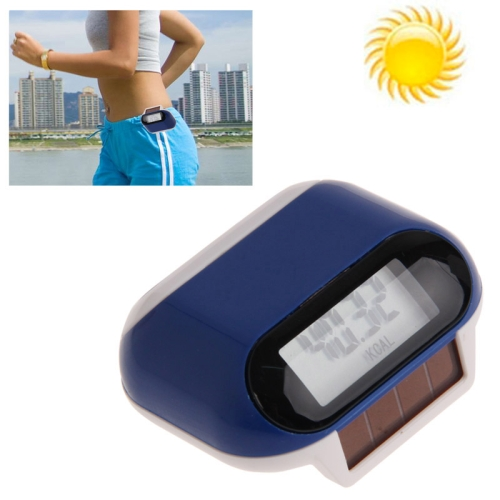 Buy Multi-function Solar Power Mini Pedometer with LCD Display & Belt Clip (Dark Blue) for $3.24 in SUNSKY store