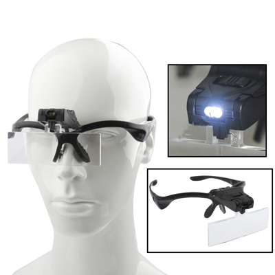 Buy Multi-functional 1.0X / 1.5X / 2.0X / 2.5X / 3.5X Magnifier Glasses with 2-LED Lights, Random Color Delivery for $6.12 in SUNSKY store