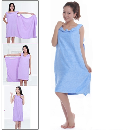 Buy Magic Towel Bath Towel Clothes Beach Towel Dress for Adults, Size: 150x80cm, Blue for $2.42 in SUNSKY store