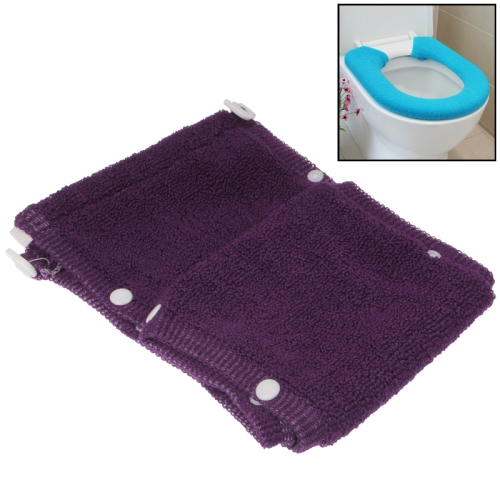 Buy General Thicken Button Type Toilet Cushion Circle of Toilet Seat Cover, Purple for $2.45 in SUNSKY store