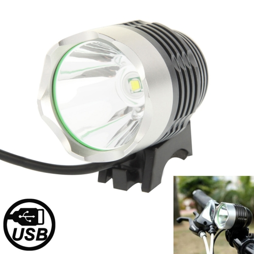 Buy 3 Modes USB CREE XML T6 LED Headlamp / Bicycle Light, Luminous Flux: 900lm, Cable Length: 1.5m for $4.75 in SUNSKY store