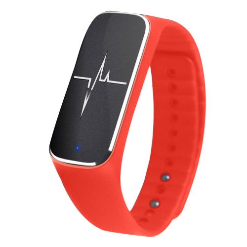 Buy L18 Bluetooth 4.0 Smart Bracelet, Support Pedometer / Mood / Blood Pressure / Heart Rate Monitor / Sleep Monitor / Fatigue State, Red for $24.25 in SUNSKY store
