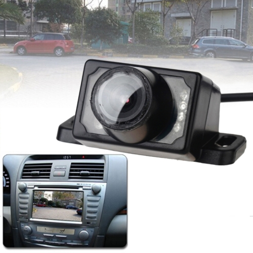 Buy 6% OFF E350 8 LED Night Vision Waterproof Auto Car Rear View Camera for Security Backup Parking for $8.13 in SUNSKY store