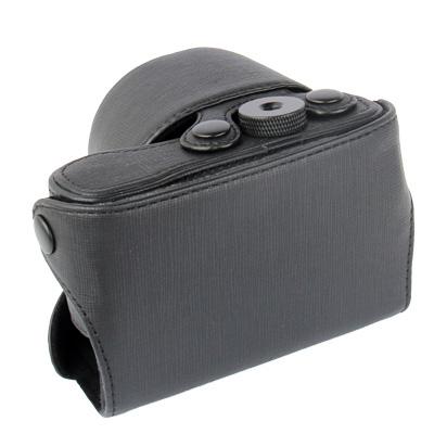 Digital Leather Camera Case Bag with Strap for Sony NEX-3N, Black