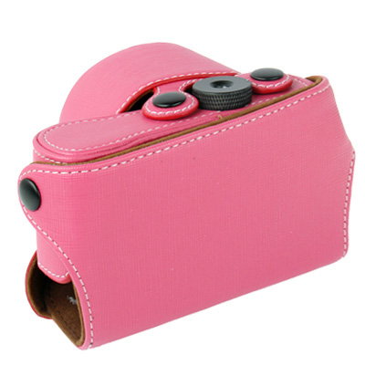 Buy Digital Leather Camera Case Bag with Strap for Sony NEX-3N, Pink for $6.09 in SUNSKY store
