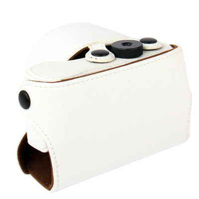 Buy Digital Leather Camera Case Bag with Strap for Sony NEX-3N, White for $6.09 in SUNSKY store