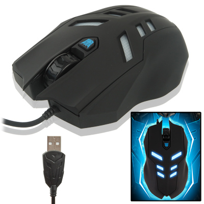 Buy Aula Series Megatron USB Wire Game Wired Mouse with Blue Backlight, Maximum Resolution of 2000 DPI, Black for $13.46 in SUNSKY store