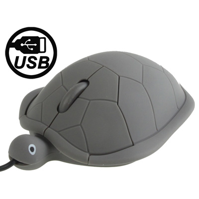 Buy Turtle Style USB 3D Optical Mouse, Grey, Grey for $2.54 in SUNSKY store