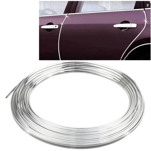 Car Auto Truck Door Edge Guard Trim Molding Protector Strip, Length: 12m(Silver)