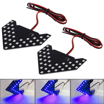 Buy Universal Amber Sequential Blue 33 LED 3528 SMD Arrows Light for Car Side Mirror Turn Signal, Pairs for $4.17 in SUNSKY store