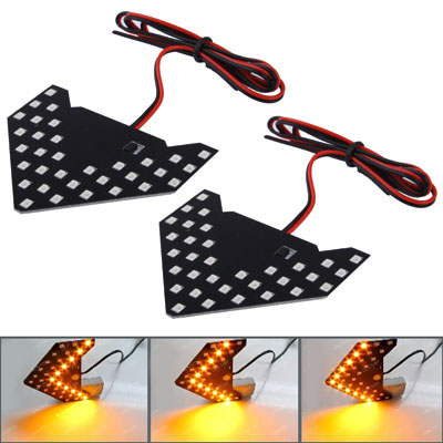Buy Universal Amber Sequential Yellow 33 LED 3528 SMD Arrows Light for Car Side Mirror Turn Signal, Pairs for $4.17 in SUNSKY store