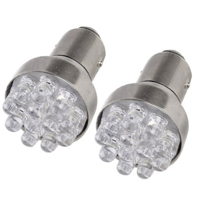Buy 1157 White 12 LED Car Signal Light Bulb, Pair for $1.35 in SUNSKY store