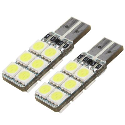Buy T10 White 12 LED Car Signal Light Bulb, Pair for $2.37 in SUNSKY store