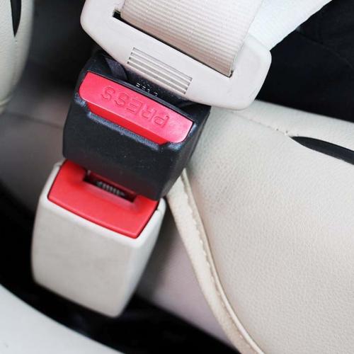 2 PCS Universal Car Seat Belt Extension Buckle(Black)