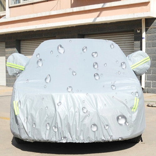 Buy PEVA Anti-Dust Waterproof Sunproof Sedan Car Cover with Warning Strips, Fits Cars up to 4.5m (176 inch) in Length for $10.90 in SUNSKY store