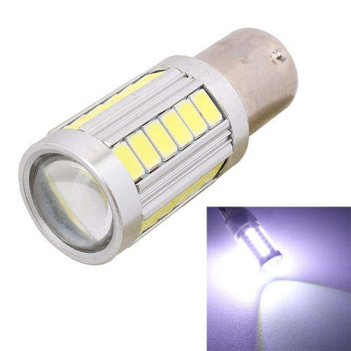 Buy 2 PCS 1156 16.5W 990LM 6500K White Light 5630 SMD 33 LED Car Brake / Steering Light Bulb, DC12V for $3.72 in SUNSKY store