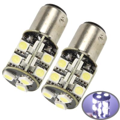 Buy 1157 White 19 LED 5050 SMD Car Signal Light Bulb, Pair for $3.94 in SUNSKY store