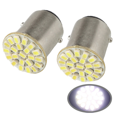 Buy 1157 White 22 LED 3020 SMD Car Signal Light Bulb, Pair for $1.04 in SUNSKY store