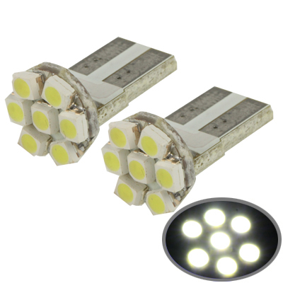 Buy T10 White 7 LED 3528 SMD Car Signal Light Bulb, Pair for $1.09 in SUNSKY store