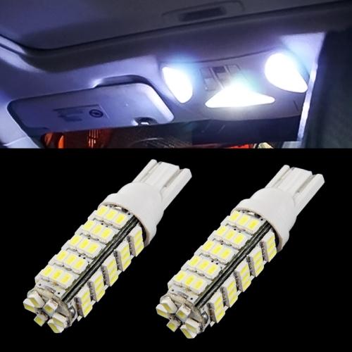 T10 White 66 LED 3020 SMD Car Signal Light Bulb, Pair