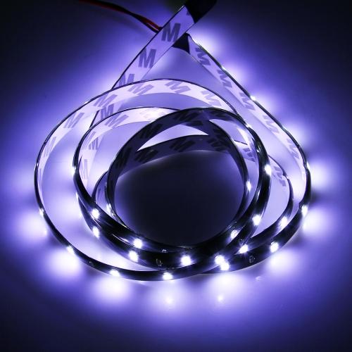 10 PCS 30cm 15 LED Waterproof Flexible Car Strip Light, DC 12V(White Light)