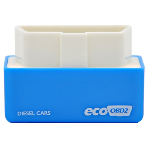 Super Mini EcoOBDII Plug and Drive Chip Tuning Box for Diesel Cars, Lower Fuel and Lower Emission, Blue