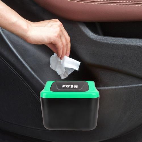 Multi-function Mini Car Plastic Trash Bin, Random Color Delivery фото