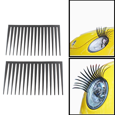 2 PCS Etle Electric Eye Vehicle Eyelashes(Black)