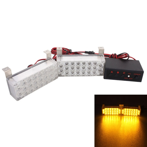 Buy 5W 1320LM 22-LED Yellow Light Car 3-Flashing Modes Strobe Emergency Signal Lamp, DC 12V, Pack of 2 for $5.45 in SUNSKY store
