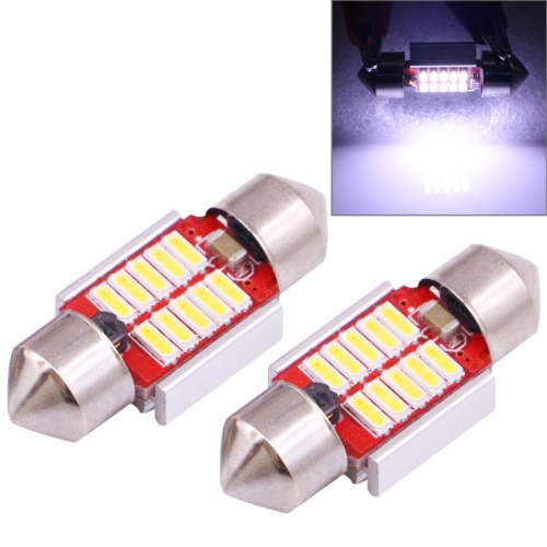 Buy 2 PCS 31mm 3W 180LM White Light 10 LED SMD 4014 CANBUS License Plate Reading Lights Car Light Bulb for $2.16 in SUNSKY store