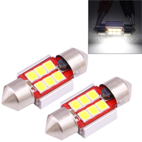 Buy 2 PCS 31mm 2.5W 180LM White Light 6 LED SMD 2835 CANBUS License Plate Reading Lights Car Light Bulb for $2.16 in SUNSKY store