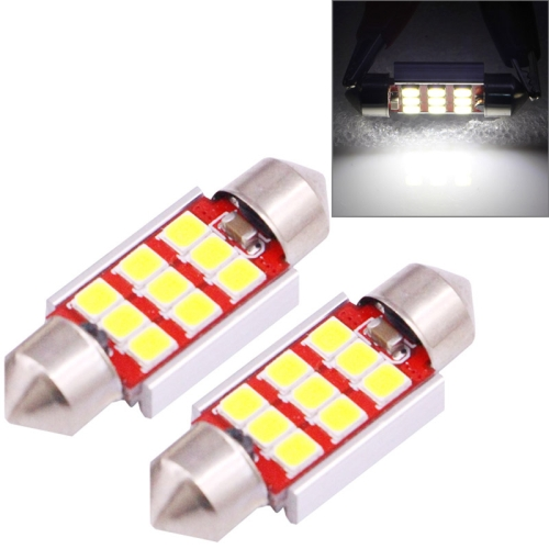 Buy 2 PCS 36mm 3.0W 180LM White Light 9 LED SMD 2835 CANBUS License Plate Reading Lights Car Light Bulb for $2.46 in SUNSKY store