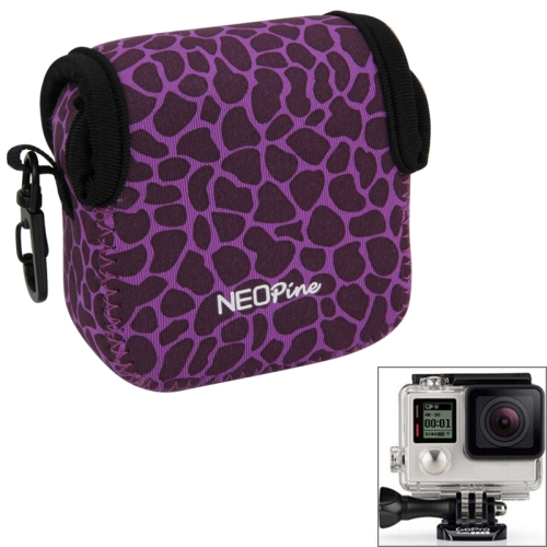 Buy GN-5 Leopard Texture GoPro Accessories Waterproof Housing Neoprene Inner Protective Bag Camera Pouch for GoPro HERO5/ 4 /3+ /3 /2 /1, Purple for $6.16 in SUNSKY store
