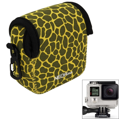Buy GN-5 Leopard Texture GoPro Accessories Waterproof Housing Neoprene Inner Protective Bag Camera Pouch for GoPro HERO5/ 4 /3+ /3 /2 /1, Yellow for $6.16 in SUNSKY store