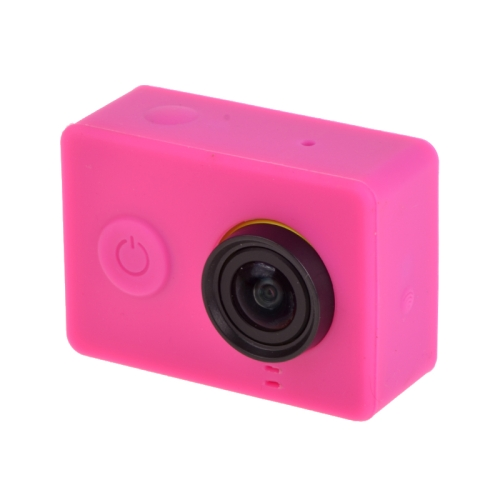 Buy Silicone Gel Protective Case for Xiaomi Yi Sport Camera, Magenta for $1.15 in SUNSKY store