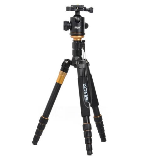 Buy ZOMEI Z699 Portable Professional Travel Aluminium Material Tripod Monopod with Ball Head for Digital Camera for $63.11 in SUNSKY store