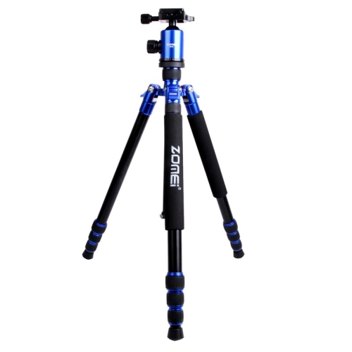 Buy ZOMEI Z888 Portable Professional Travel Aluminium Tripod Monopod with Ball Head for Digital Camera, Blue for $75.03 in SUNSKY store