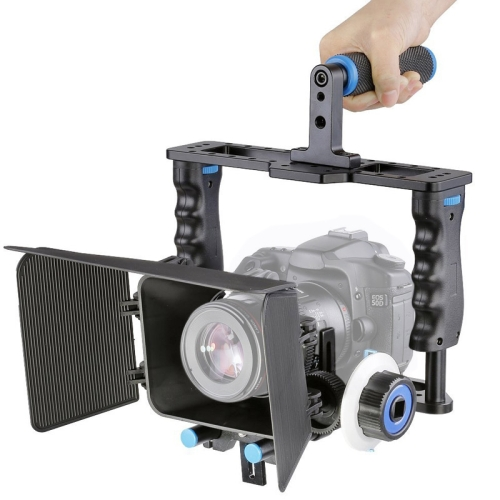 Buy YELANGU YLG1103A-B Large Handle Video Camera Cage Stabilizer + Matte Box Kit for DSLR Camera / Video Camera for $87.78 in SUNSKY store
