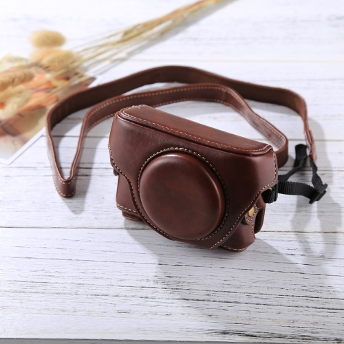 Buy Retro Style Leather Camera Case Bag with Strap for Sony RX100 M3 / M4 / M5, Coffee for $6.89 in SUNSKY store