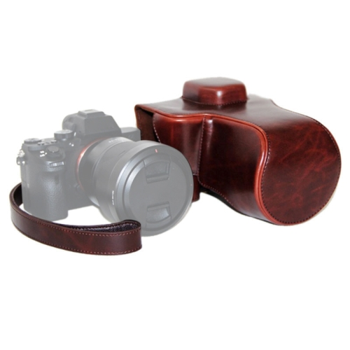 Buy Oil Skin PU Leather Camera Case Bag with Strap for Sony ILCE-7II, Coffee for $8.25 in SUNSKY store
