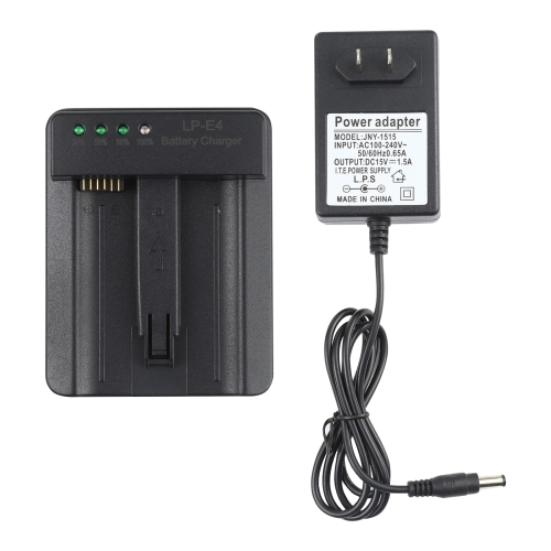 LP-E4 Battery Charger for Canon EOS 1DS Mark III / 1D Mark III 4 / Mark IV / LC-E4(Black)