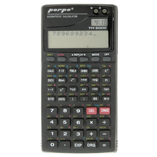 Buy Porpo YH-2000 2.5 inch 11 Digits Function Scientific Calculator for $3.12 in SUNSKY store