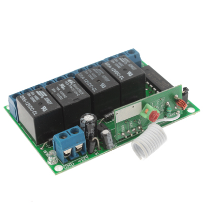 Buy 4CH RF Wireless Relay Remote Control Controller Module 315MHz 12V ZF-K4 for $8.30 in SUNSKY store