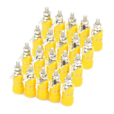 Buy 4mm Audio Speaker Binding Post Terminal, Yellow (20 Pcs in One Package, the Price is for 20 Pcs), Yellow for $3.71 in SUNSKY store